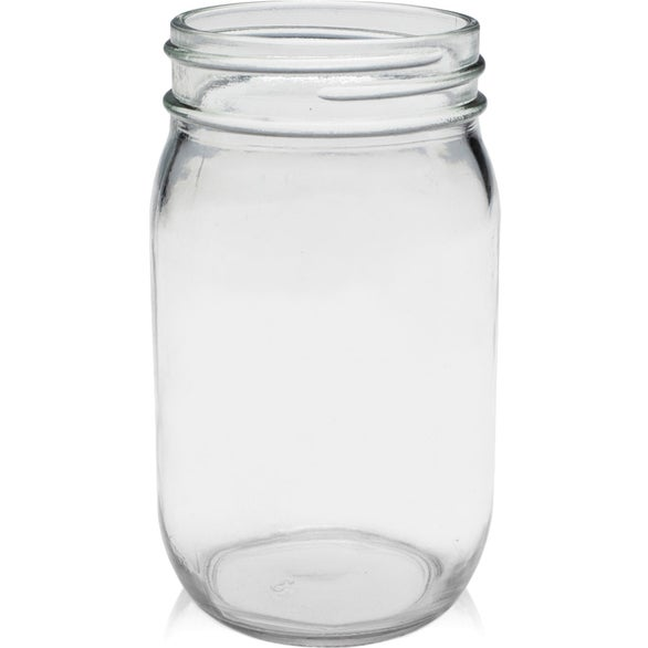Clear Mason Jar Drinking Glass