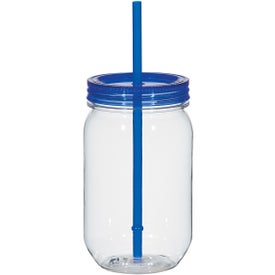 Personalized Mason Jar with Matching Straw
