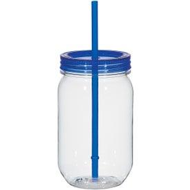 Personalized Mason Jar with Matching Straw