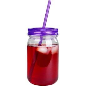 Mason Jar with Matching Straw for Customization