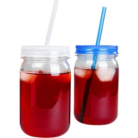 Mason Jar with Matching Straw (25 Oz.)