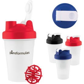 Mini Plastic Fitness Shaker with Mixer Ball (12 Oz.)
