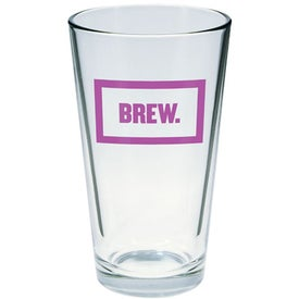 Advertising Clear Pint Glass