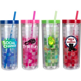 Mood Cube Tumbler with Your Slogan