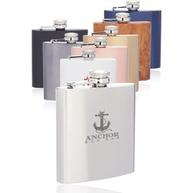 Murano Stainless Steel Hip Flasks (6 Oz.)