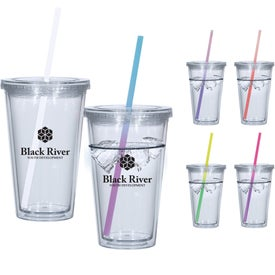 Newport Acrylic Tumbler With Mood Straw (16 Oz.)
