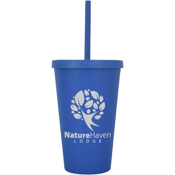 Blue Newport Wheat Travel Tumbler