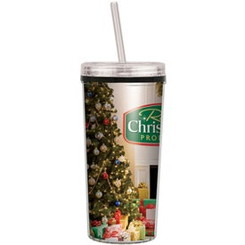 Niagara Four Color Tumbler with Screw on Straw Lid (16 Oz.)