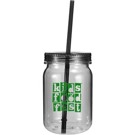 Personalized Plastic Mason Jar