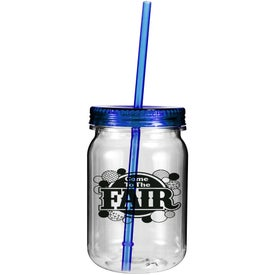 Plastic Mason Jar Imprinted with Your Logo