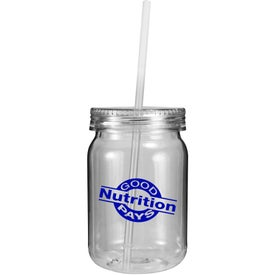 Plastic Mason Jar with Your Slogan