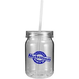 Plastic Mason Jar with Your Slogan