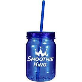 Advertising Plastic Mason Jar