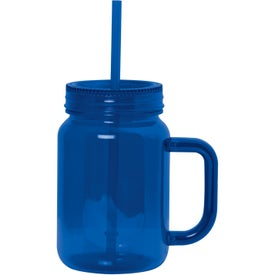 Advertising Plastic Mason Jar With Handle