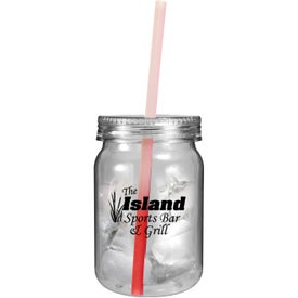 Plastic Mason Jar with Mood Straw Giveaways