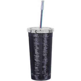 Sequin Tumbler with Park Avenue Straw (24 Oz.)