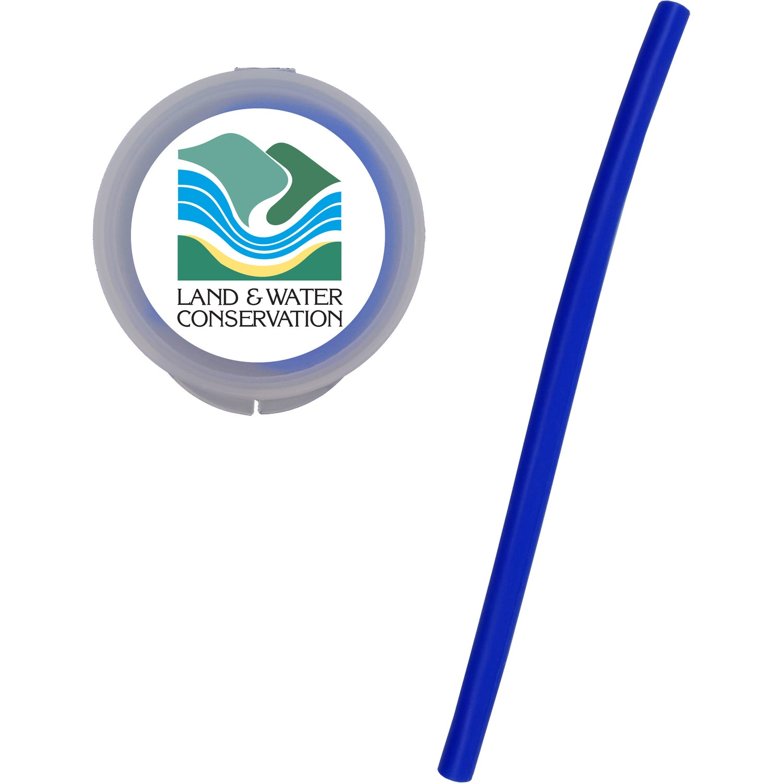 Silicone Straw In Circular Case