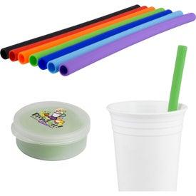 Silicone Straw in Round Case