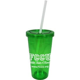 Single Wall Acrylic Carnival Tumbler for Advertising