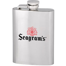 Slim Stainless Steel Hip Flask (4 Oz.)