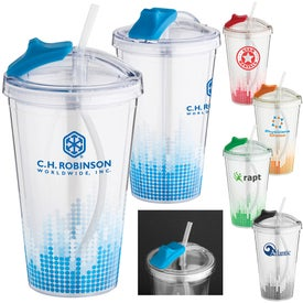 Soundwave Straw Tumbler (16 Oz.)