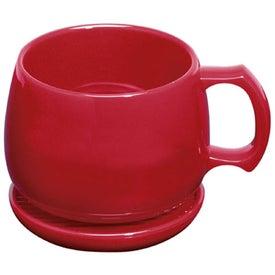 Souper Mug and Coaster/Lid for Promotion