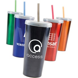 Logo Stainless Insulated Sipper Cup