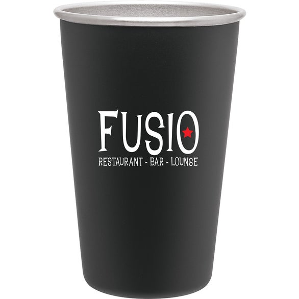 Matte Black Stainless Steel Pint Cup