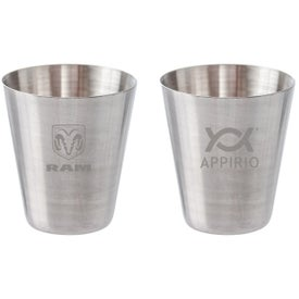 Stainless Steel Shot Glass Cups (2 Oz.)