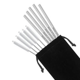 Stainless Steel Straw 5 Packs with Pipe Cleaner Brushes