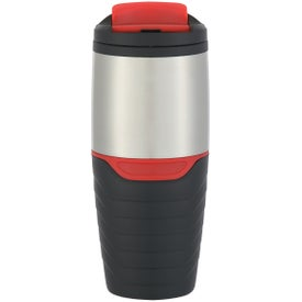 Stainless Steel Tumbler with Flip Lock Lid (16 Oz.)