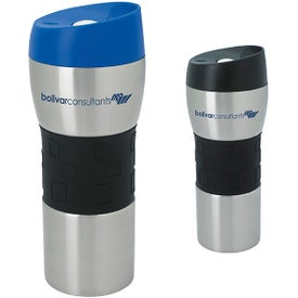 Stainless Tumbler with Grip (16 Oz.)
