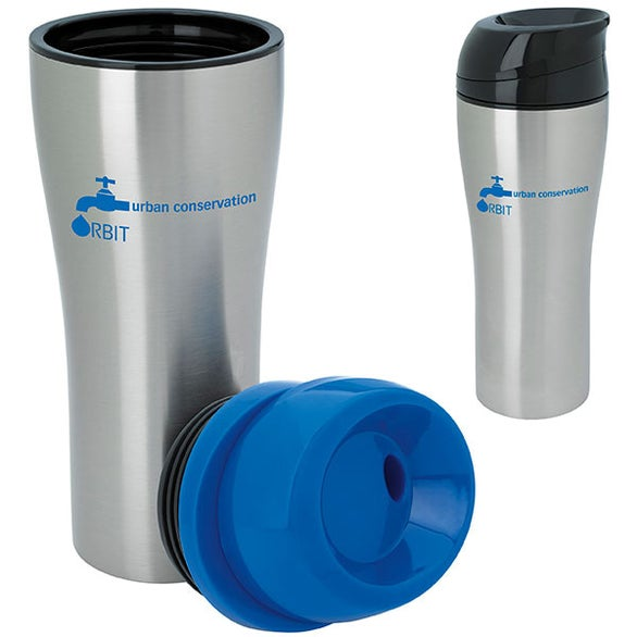 Stainless Tumbler with Sliding Lid