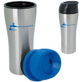 Stainless Tumbler with Sliding Lid (15 Oz.)