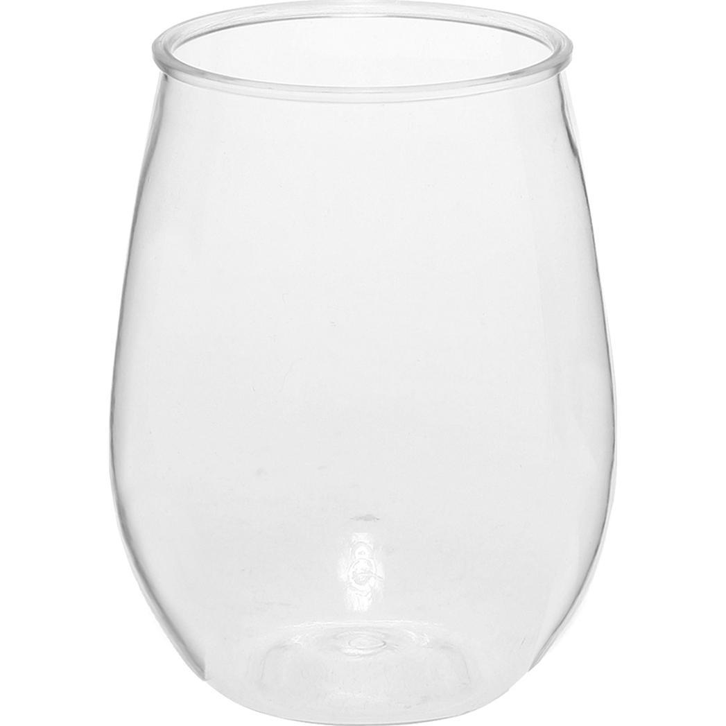 Stemless Plastic Wine Glass (10 Oz.)