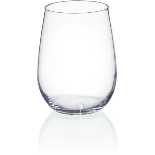 Stemless white wine glass 17 oz logo drinkware and for Large white wine glasses