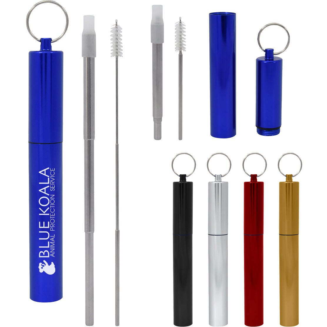 Telescopic Stainless Steel Straw Kit