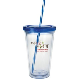 Printed Translucent Candy Cane Tumbler