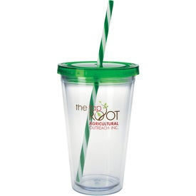 Translucent Candy Cane Tumbler for Promotion