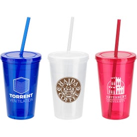 Trifecta Double Wall Tumbler with Lid and Straw (16 Oz.)