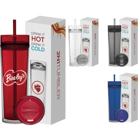 Tube Tumbler Hot and Cold Gift Set (16 Oz.)