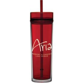 Monogrammed Tube Tumbler with Straw