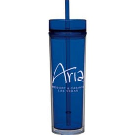 Tube Tumbler with Straws (16 Oz.)