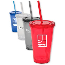 Custom Tumbler with Lid and Straw