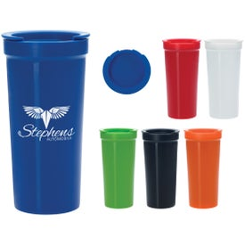 Advertising Tumbler with Lock Lid