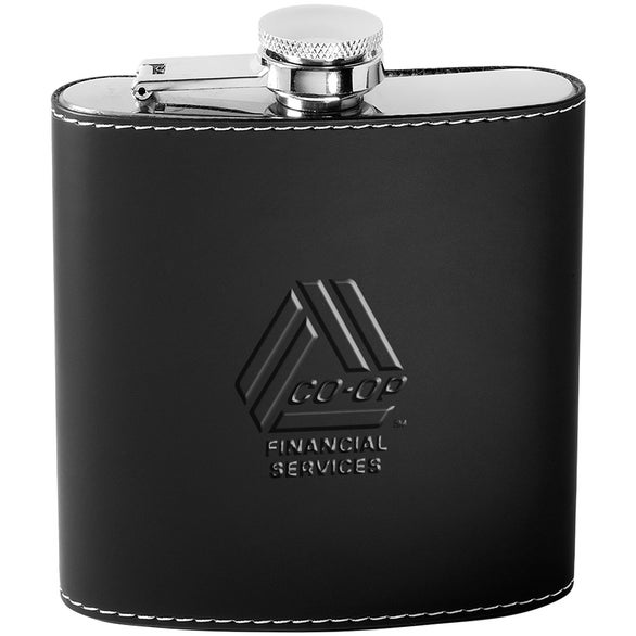 Black / Stainless Steel Tuscany Flask