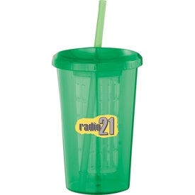 Promotional Tutti Frutti Tumbler with Straw
