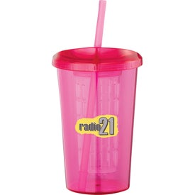 Tutti Frutti Tumbler with Straw Branded with Your Logo