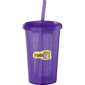 Tutti Frutti Tumbler with Straw with Your Slogan