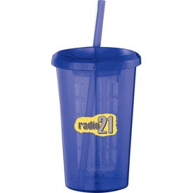 Branded Tutti Frutti Tumbler with Straw